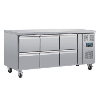 Table réfrigérée GN 1/1 ventilée 6 tiroirs Polar Série U
