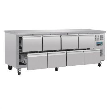Table réfrigérée GN 1/1 ventilée 8 tiroirs Polar Série U