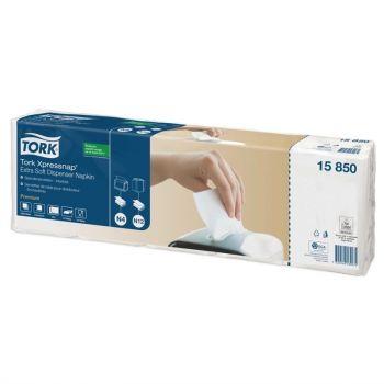 Serviettes blanches pour distributeur Tork Xpressnap Extra Soft
