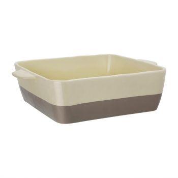 Plat à rôtir crème et taupe Olympia 4;2L