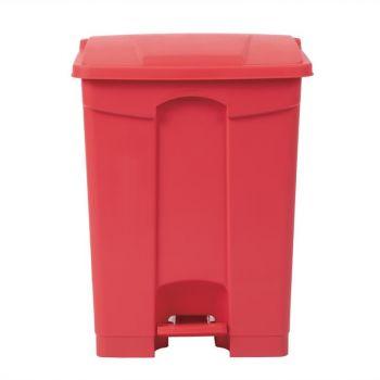 Poubelle de cuisine à pédale Jantex rouge 65L