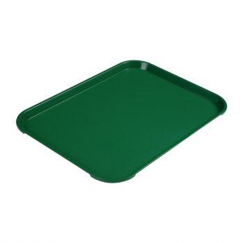 Plateau rectangulaire en polypropylène Fast Food Cambro vert 41 cm