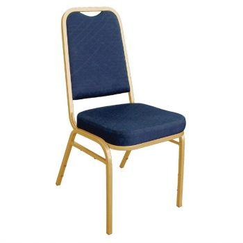 Chaises de banquet à dossier carré Bolero bleues
