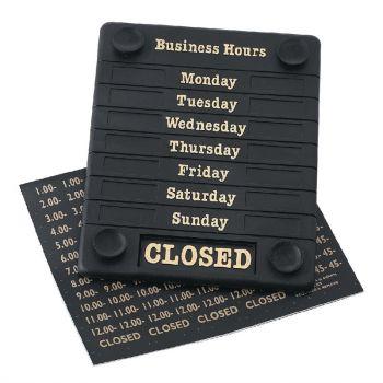 Panneau horaires d'ouverture