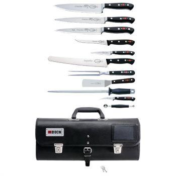 Ensemble de 11 couteaux Dick Premier Plus avec étui