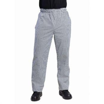 Pantalon de cuisine mixte Whites Vegas petits carreaux noirs et blancs L