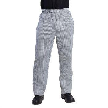 Pantalon de cuisine mixte Whites Vegas petits carreaux noirs et blancs S