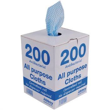 Chiffons tout usage antibactériens Jantex bleus