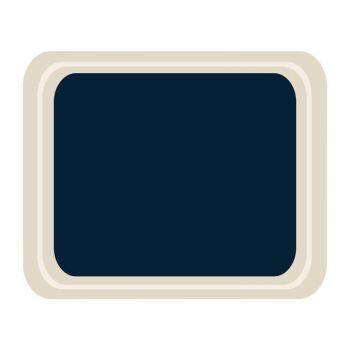 Plateau de service en polyester Roltex Cafétéria 420x320mm bleu