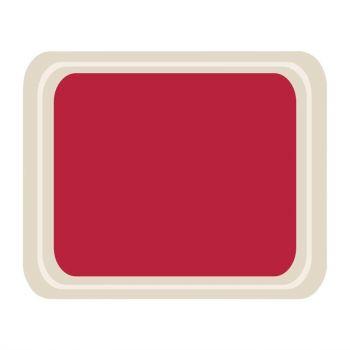 Plateau de service en polyester Roltex Cafétéria 420x320mm rouge