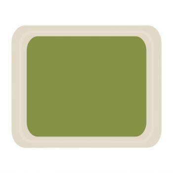 Plateau de service en polyester Roltex Cafétéria 420x320mm vert