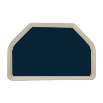 Plateau de service en polyester Roltex Trapèze GN 500x325mm bleu