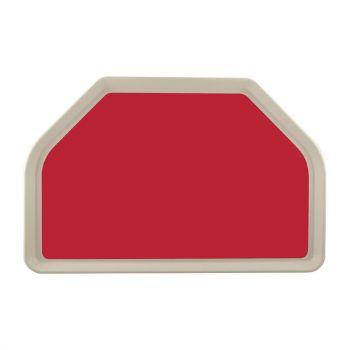Plateau de service en polyester Roltex Trapèze GN 500x325mm rouge