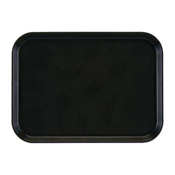 Plateau rectangulaire antidérapant en fibre de verre EpicTread Cambro noir 35 cm