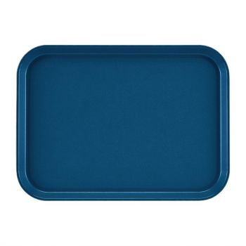 Plateau rectangulaire antidérapant en fibre de verre EpicTread Cambro bleu 35 cm