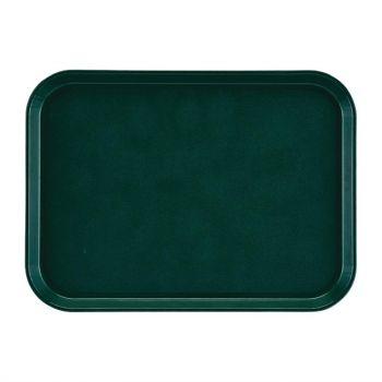 Plateau rectangulaire antidérapant en fibre de verre EpicTread Cambro vert 35 cm