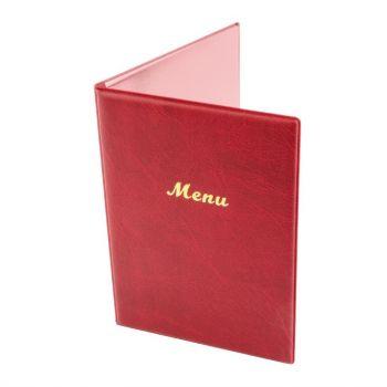 Protège-menus en PVC Olympia A5 bordeaux