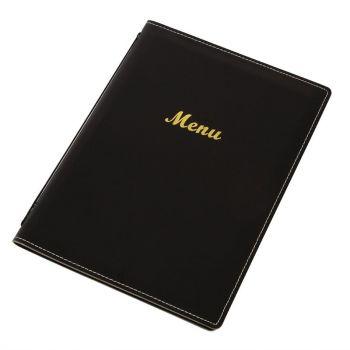Protège-menus en simili cuir Olympia A4 noir