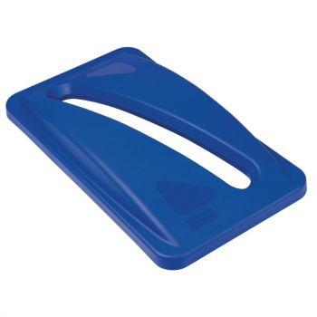 Couvercle bleu pour papiers Rubbermaid