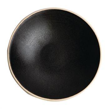 Assiettes creuses noir mat Olympia Canvas 20 cm