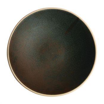 Assiettes creuses vert bronze Olympia Canvas 20 cm