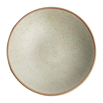 Assiettes creuses beige moucheté Olympia Canvas 20 cm