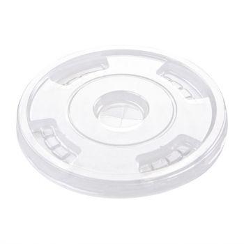Couvercles plats compostables en PLA Fiesta Green pour gobelets 340/454/568ml