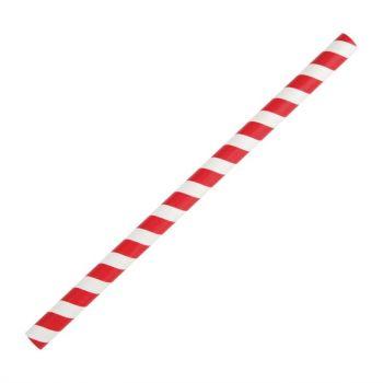 Pailles à smoothie en papier Fiesta Green rouges 21 cm