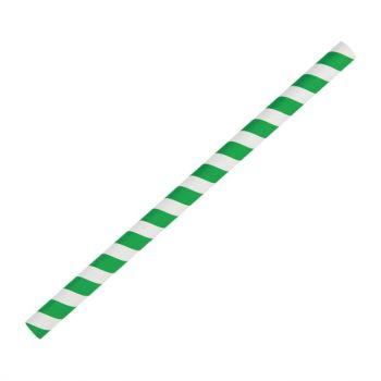 Pailles à smoothie en papier Fiesta Green vertes 21 cm