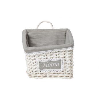 Cosy & Trendy Home Panier Paille Blanc 25x18x16cm