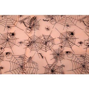 Cosy @ Home Etoffe Deco Org.orange Squelett 40x200cm