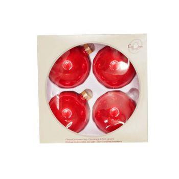 Cosy @ Home Boule Verre Set4 Candy Rouge D8cm