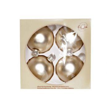 Cosy @ Home Boule Verre Set4 Blanc De Soie Mat D8cm