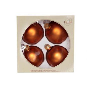 Cosy @ Home Boule Verre Set4 Cognac Mat 8cm