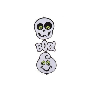 Cosy @ Home 2 Fantomes Boo A Suspend Noir Blanc 75cm