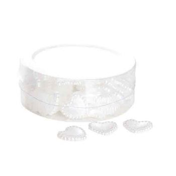 Cosy @ Home Coeurs Deco Plastic Blanches 1.5cm