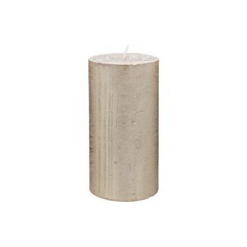 Cosy & Trendy Rustic Bougie Cylindre Metallic Or