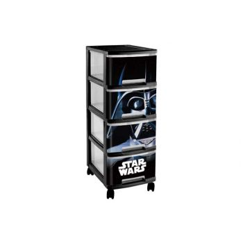 Curver Syst. Tirroir Star Wars 4x10l 26x35xh68c