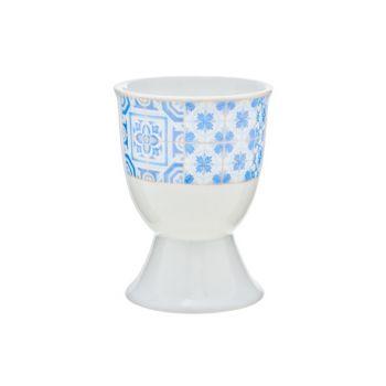 Cosy & Trendy Tile Blue Coquetier D5xh6.5cm Set 6
