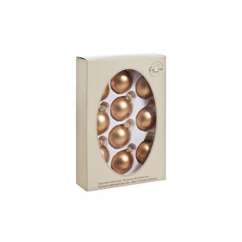 Cosy @ Home Boule Verre Set10 Siena Dore Mat D4.5cm