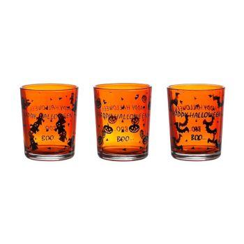 Cosy @ Home Bougeoir Verre Halloween 3 Types Orange