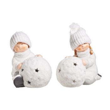 Cosy @ Home Bougeoir Enfant Boule N Blanc 31x26x30cm