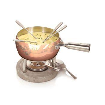 Boska Copper Set A Fondue Fromage 1l Plat En