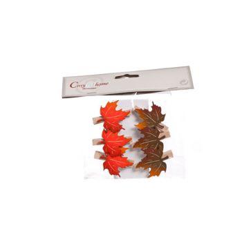 Cosy @ Home Pince Feuilles Automne 6pcs 3.5x4.5cm