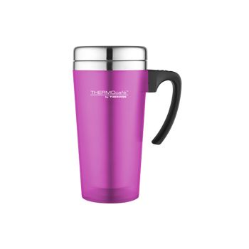 Thermos Soft Touch Travel Mug Pink 420ml