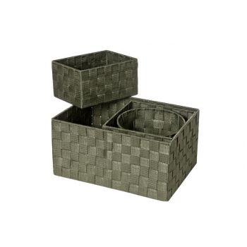Cosy & Trendy Expert Panier Kaki Set4 Nylon 34.55x24.5
