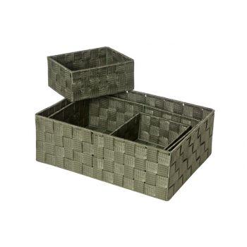 Cosy & Trendy Expert Panier Kaki Set4 Rect Nylon35x25x