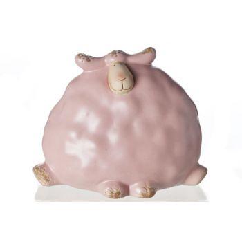 Cosy @ Home Dolly Mouton Rose Ceramique 11x7x9cm