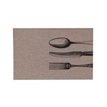 Cosy & Trendy Placemat Poly-lin Brun- Print Noir