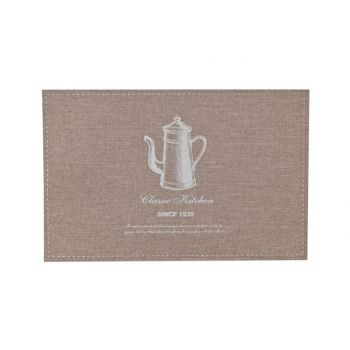 Cosy & Trendy Placemat Poly-lin Brun- Print Argent